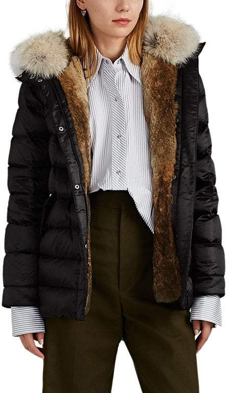 Army by Yves Salomon Fur Trimmed & Fur Lined Down Puffer