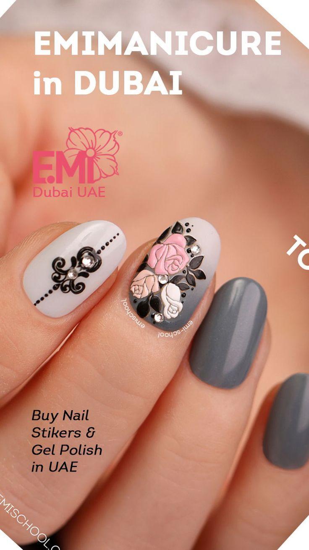 Awesome nail art flower manciure easy to do nail design