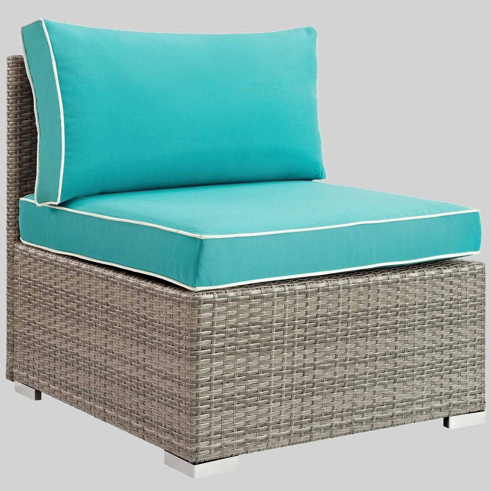 Repose Armless Patio Chair Turquoise