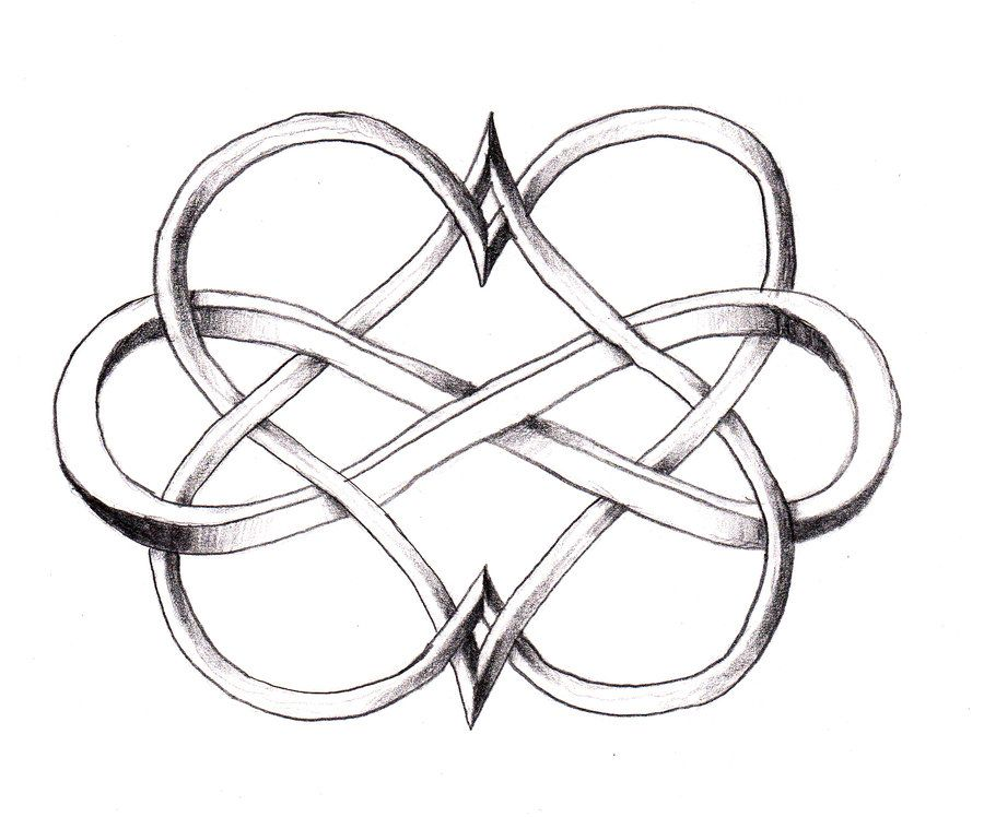 I Love This Double Heart Infinity Tattoo Beautiful And Unique