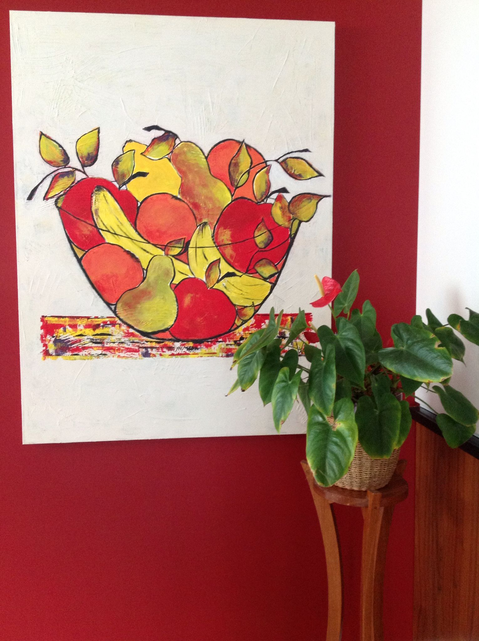 """""""Fruits alors ..."""" - Acrylique sur toile -  48"""" x 30"""" - NON DISPONIBLE"""