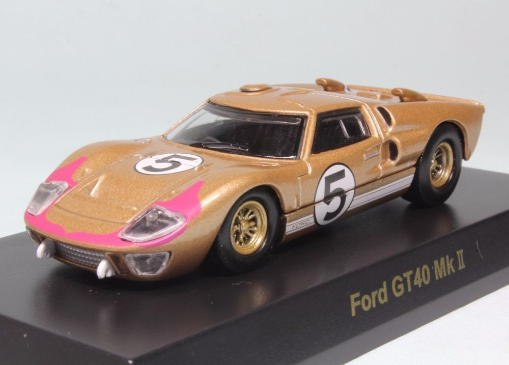 7601 Kyosho 1 64 Ford Gt40 Mkii 2 5 Gold Mint No Box With
