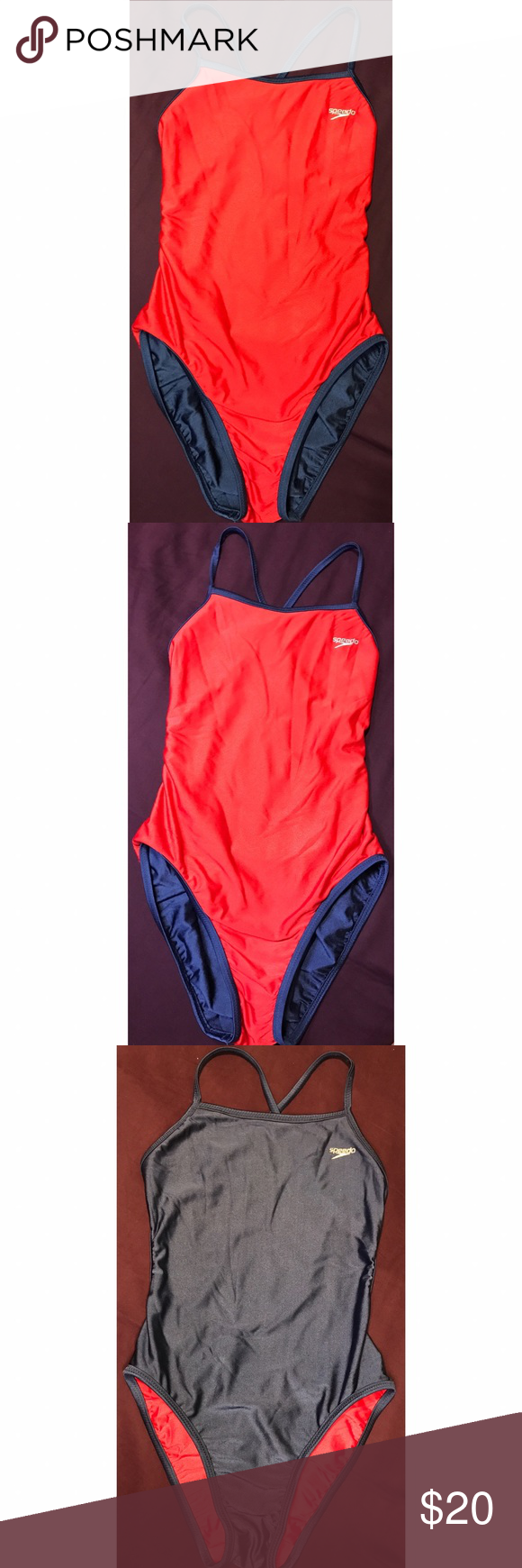 ✨💙SPEEDO REVERSIBLE BATHING SUIT❤️✨ Super cute REVERSIBLE one piece Speedo bathing suit! Perfect for a 4th of July BBQ💙❤️ or jst sometime this Summer by the pool or at the beach! ❤️✨👙 Worn once, still in immaculate condition!! Great Open Strappy back detail!  ✨BUNDLE & SAVE✨  **💕REASONABLE OFFERS WELCOME!💕**   ✨Comes from a smoke free environment ✨  ***TAGS: American Apparel, Topshop, Gap, Ralph Lauren, Forever 21, F21, H&M. Speedo Swim One Pieces