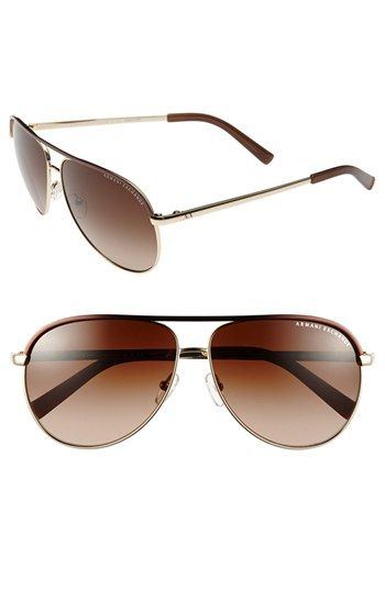 ff3c536a56d1 AX Armani Exchange 61mm Aviator Sunglasses available at  Nordstrom ...