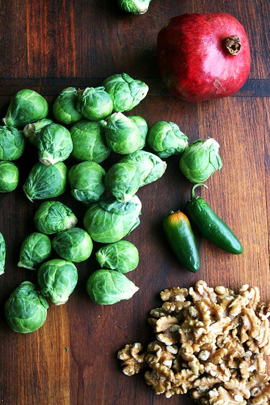 Brussels Sprout Salad With Pomegranate Walnuts Amp Jalapeno