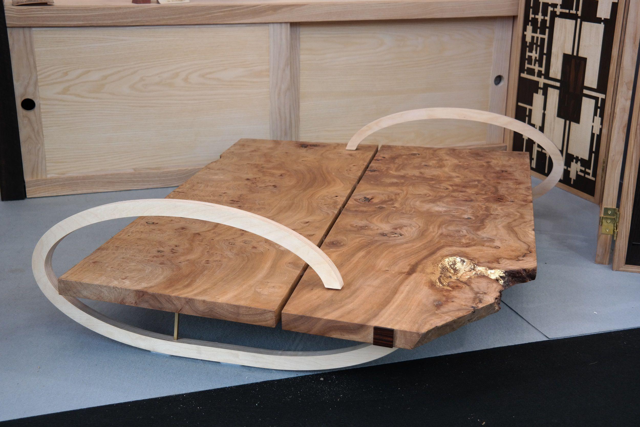 Table Très Basse Loupe Du0027Orme Et CP Peuplier Bass, 1st Grades, Atelier