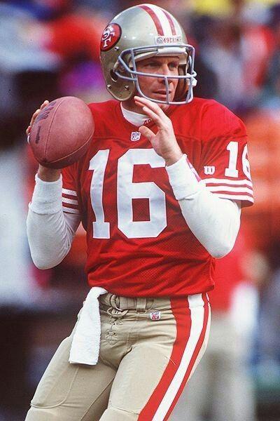 Joe Montana - the greatest quarterback in NFL history.  ~Repinned Via Jennifer Huneycutt