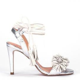 ZapatosSandalias Plateada Sandalia Plateada AtadaZapatos Pedro Sandalia 1JTlFKc