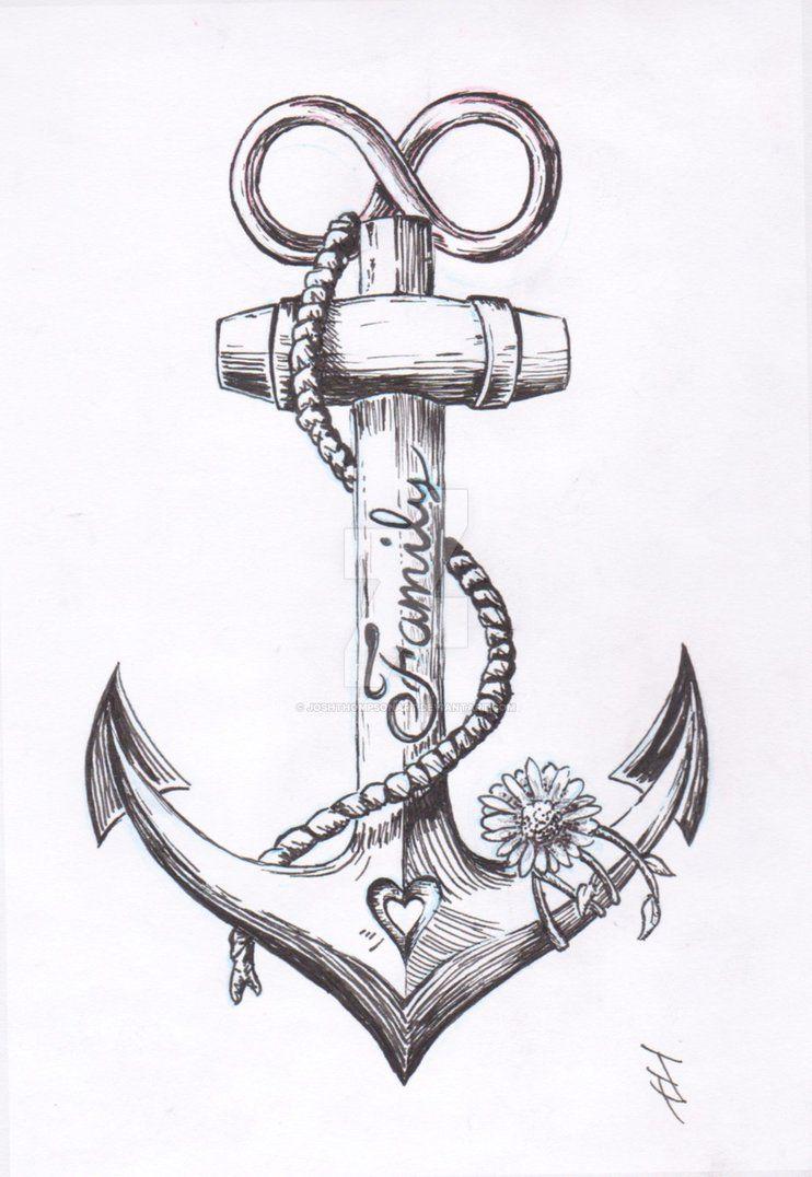 Anchor Tattoo Design By Joshthompsonart Deviantart Com On