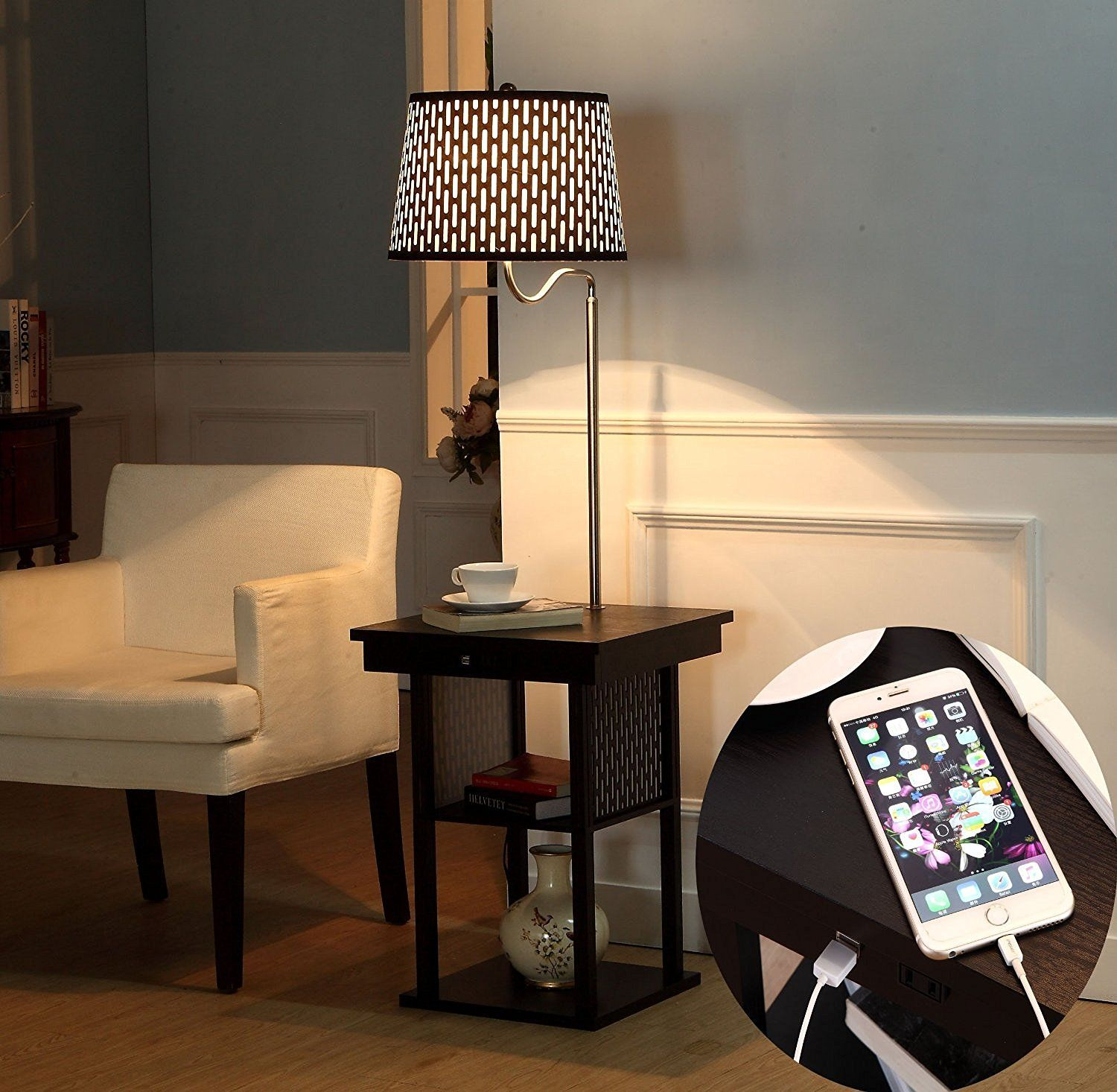 Lamp Attached To Table Astonbkk End Table With Lamp Attached ...