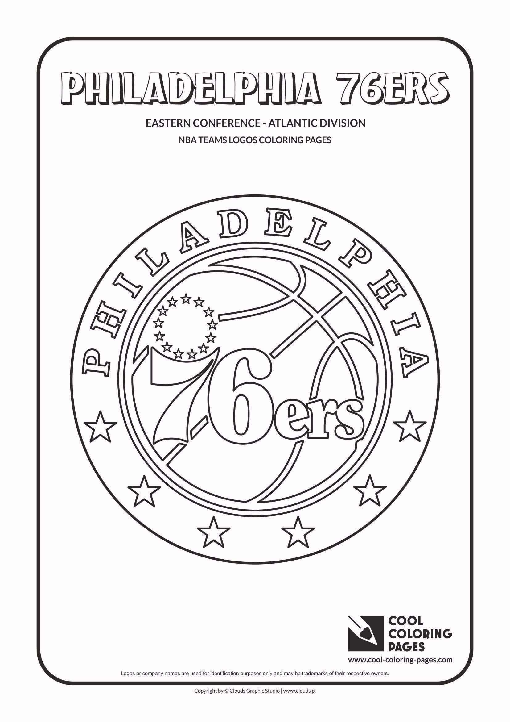 Cool Coloring Pages Nba Teams Logos Philadelphia 76ers Logo Coloring Page In 2020 Philadelphia 76ers Nba Basketball Teams Cool Coloring Pages