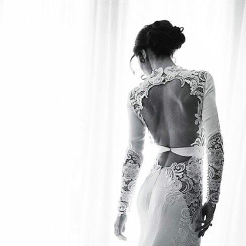 Steven Khalil couture wedding gown