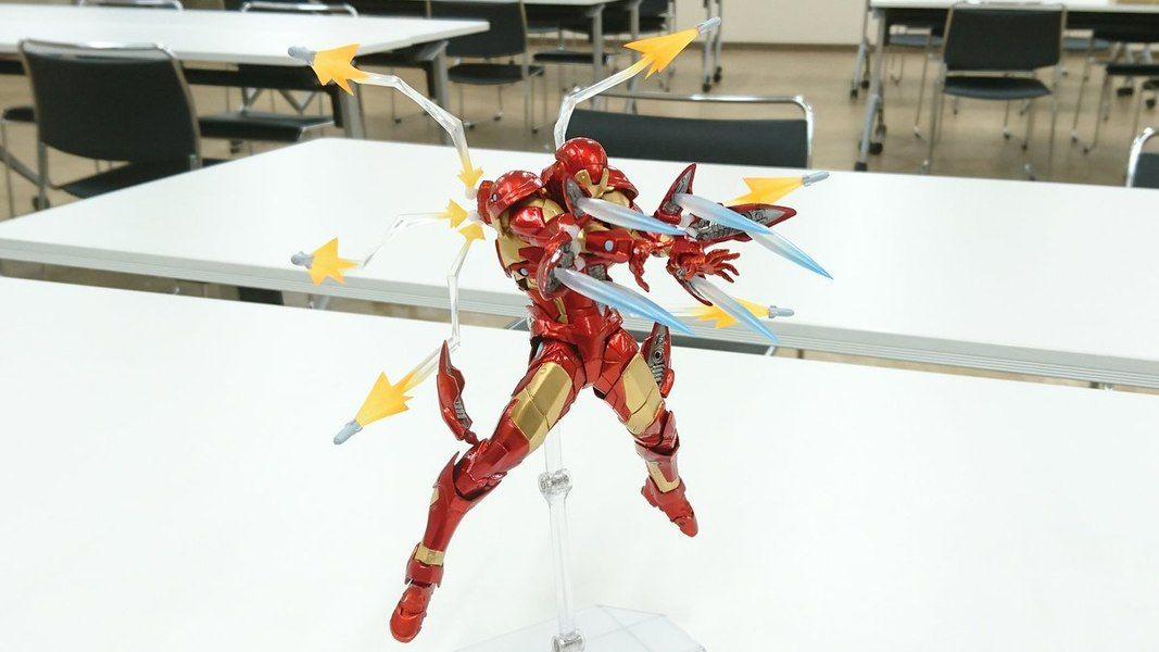 New Amazing Yamaguchi Revoltech Bleeding Edge Iron Man Figure Images Iron Man Yamaguchi Male Figure