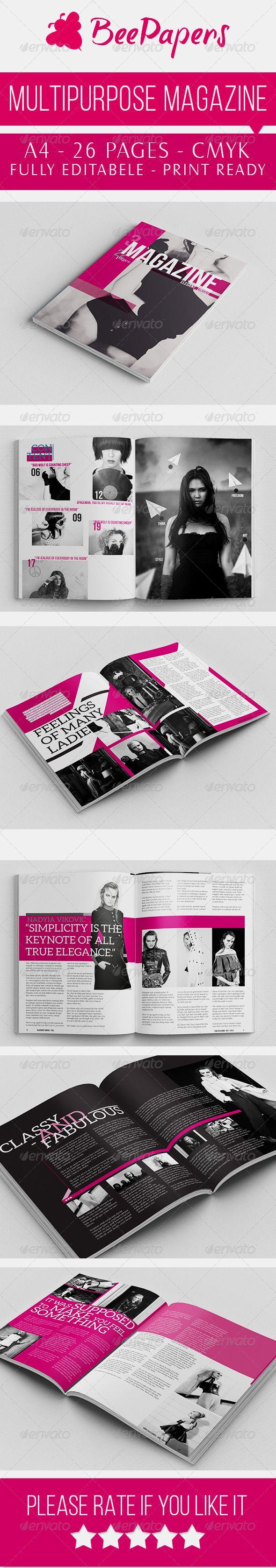 Unique Magazine Indesign | Pinterest