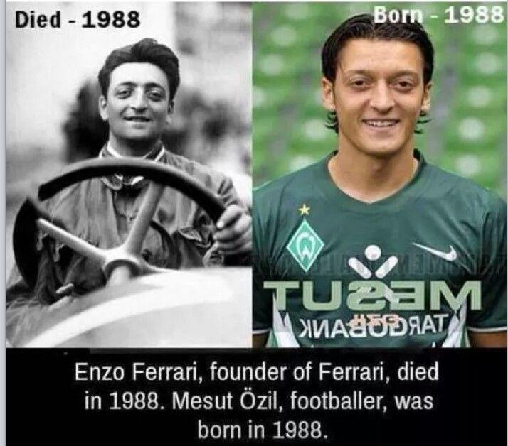 Enzo Ferrari And Mesut Ozil Unluler Hayat Cift