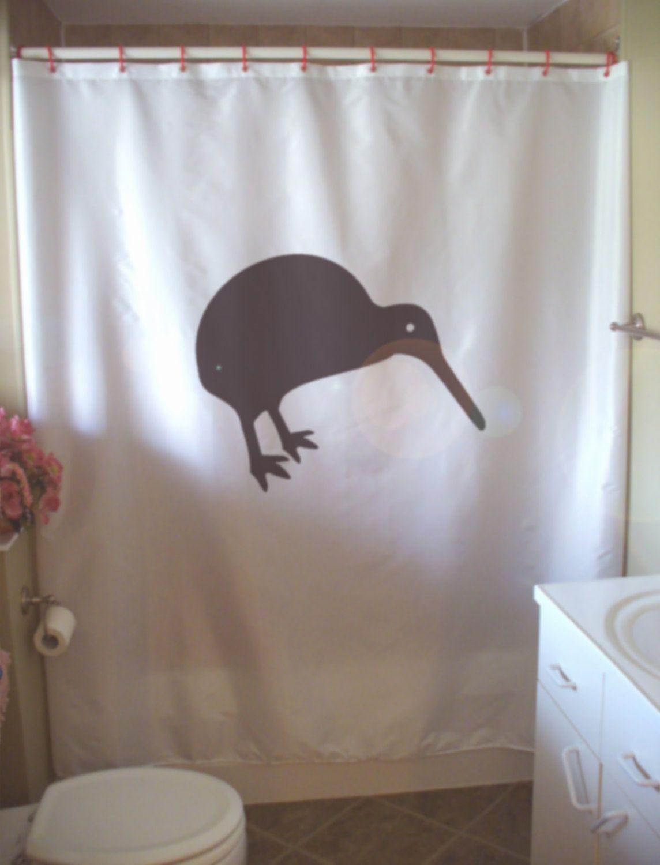 Kiwi Shower Curtain Nz New Zealand Flightless Bird Native Nature