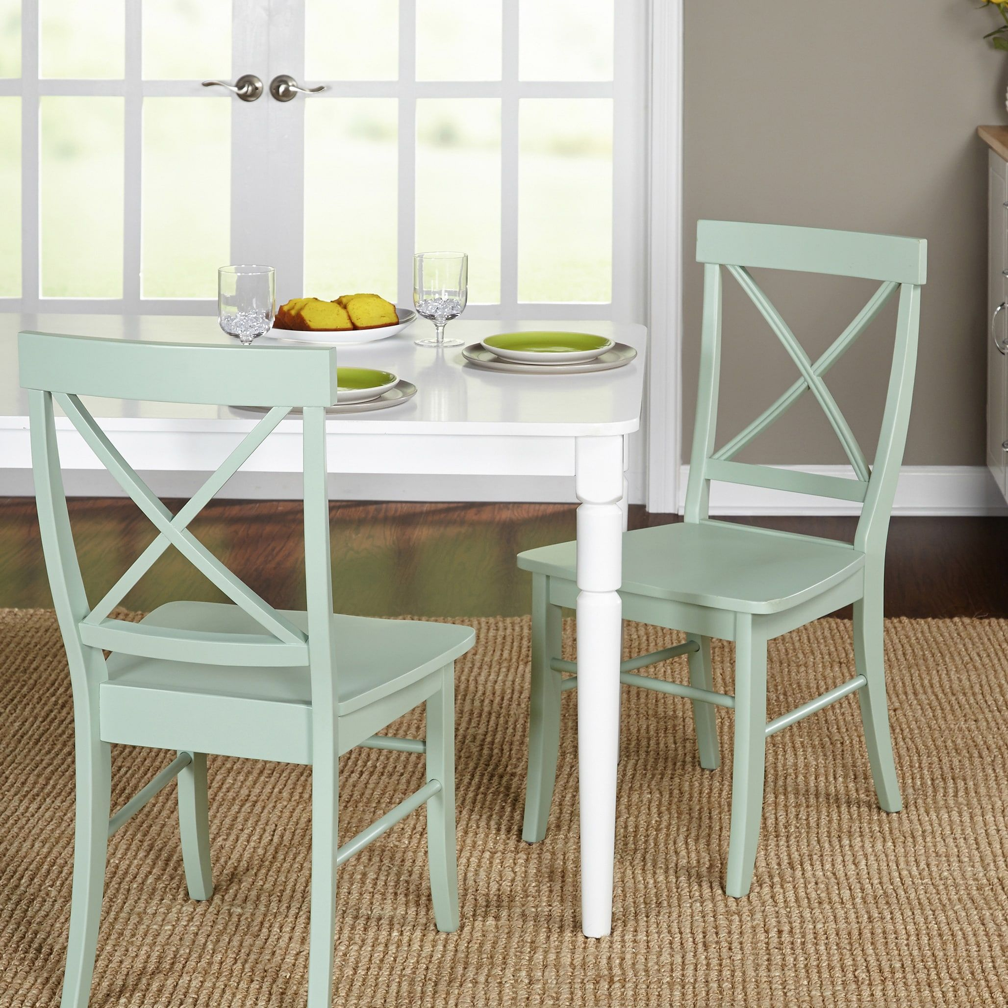 Simple Living Albury Dining Chairs (Set of 2) (Rubberwood ...