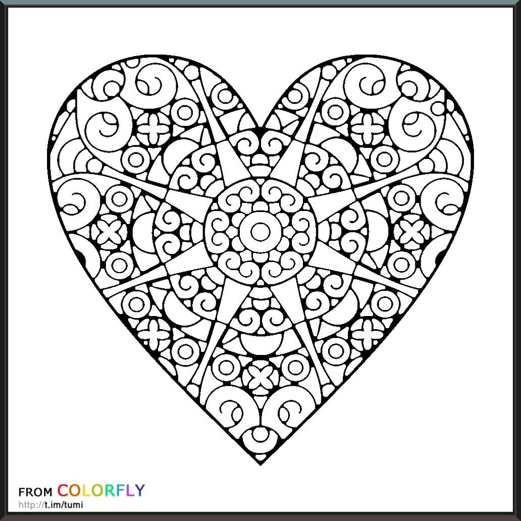 Coloring Colorfly Heart Coloring Pages Love Coloring Pages Pattern Coloring Pages