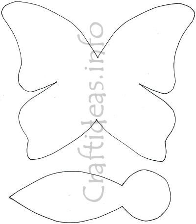 Butterfly pattern or mobile Nursery ideas Pinterest - butterfly template