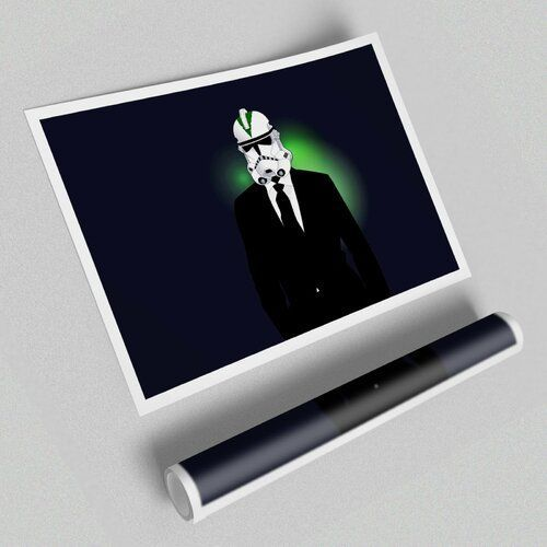 Storm Trooper Suit  Unframed Graphic Art Print on Paper East Urban Home Size 594 cm H x 841 cm W