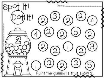 Numbers -Number Recognition Pages for Math Centers ...