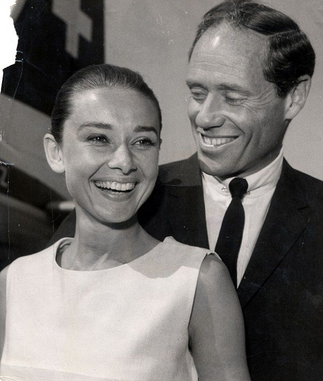 Instead Hepburn married fellow actor Mel Ferrer in 1954, who she is pictured with above...