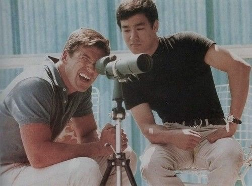 Van Williams with Bruce Lee