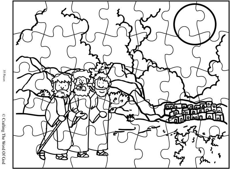 road to emmaus coloring page - road to emmaus puzzle crafts pinterest death bible
