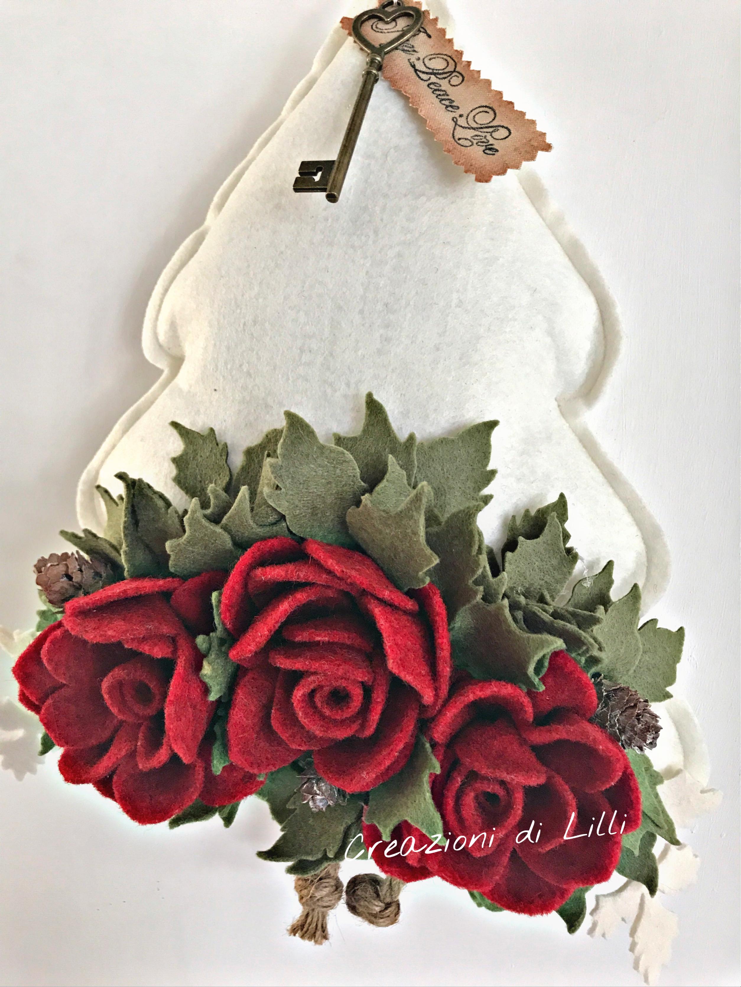 #Creazionidililli #Decorazioni #Natale #Style #Idee #Alberi #Feltro #Rose #Hobby Visita