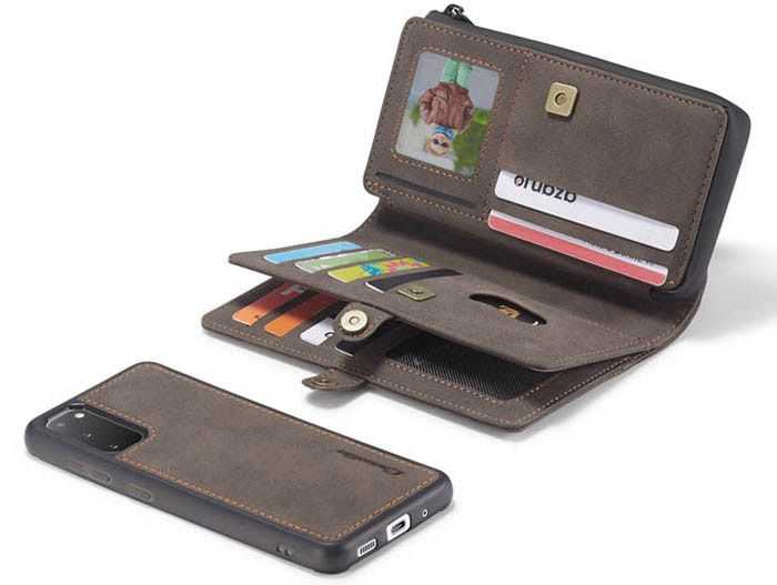 CaseMe Samsung Galaxy S20 Multi-Functional Wallet Case Coffee