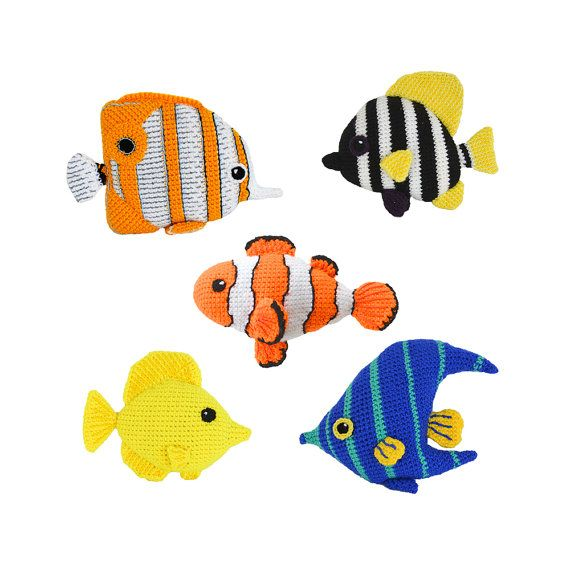 Tropical Fish Crochet Pattern, Amigurumi Fish Crochet Pattern Set ...
