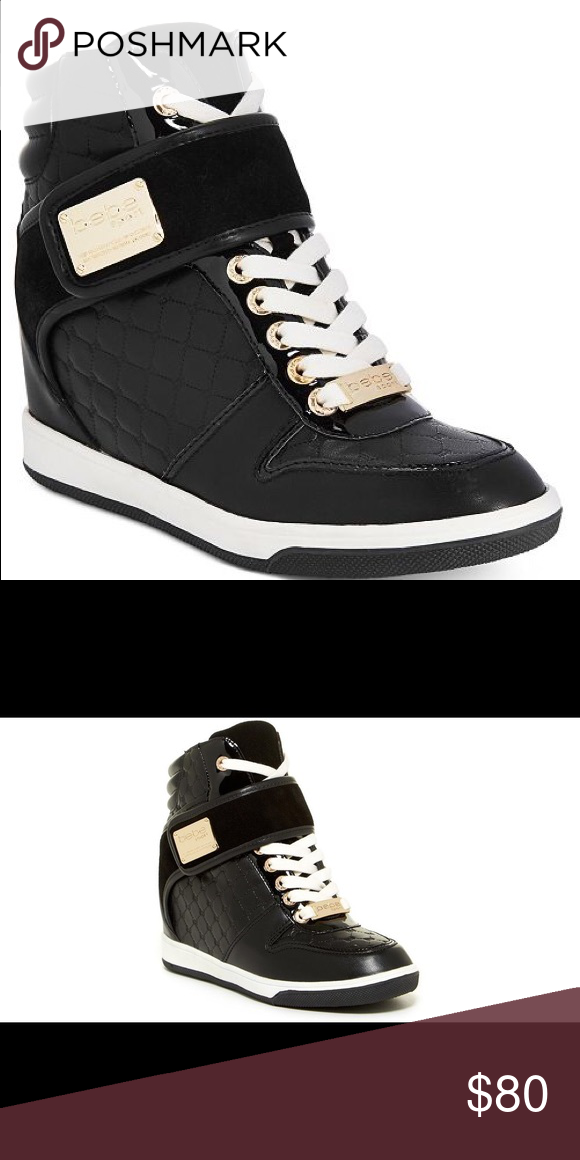 be90a855ce4 Bebe hightop sneakers Style  sport Colby wedges sneakers