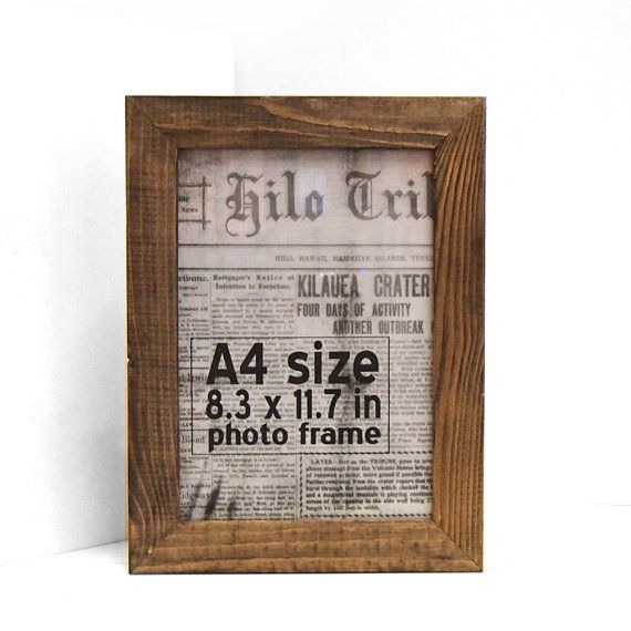 A4 Picture Photo Frame Rustic 70mm Thin Recycled Timber By Bingkai 45 00 Wood Picture Frames Frame Photo Frame