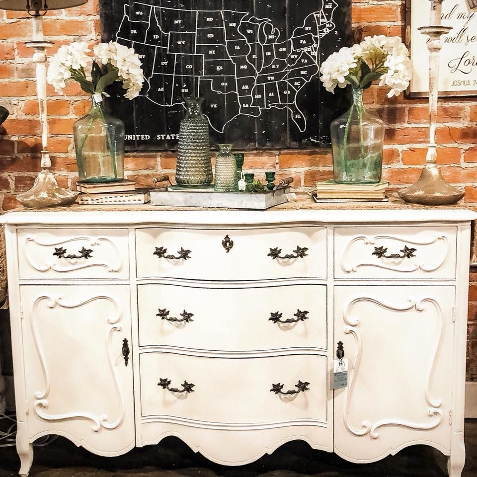 French Provincial Buffet painted with Amy Howard One Step