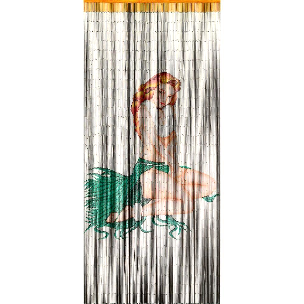 Bamboo bead door curtain - Bamboo Beaded Door Curtain Miss Liberty Room Divider Wall Hanging