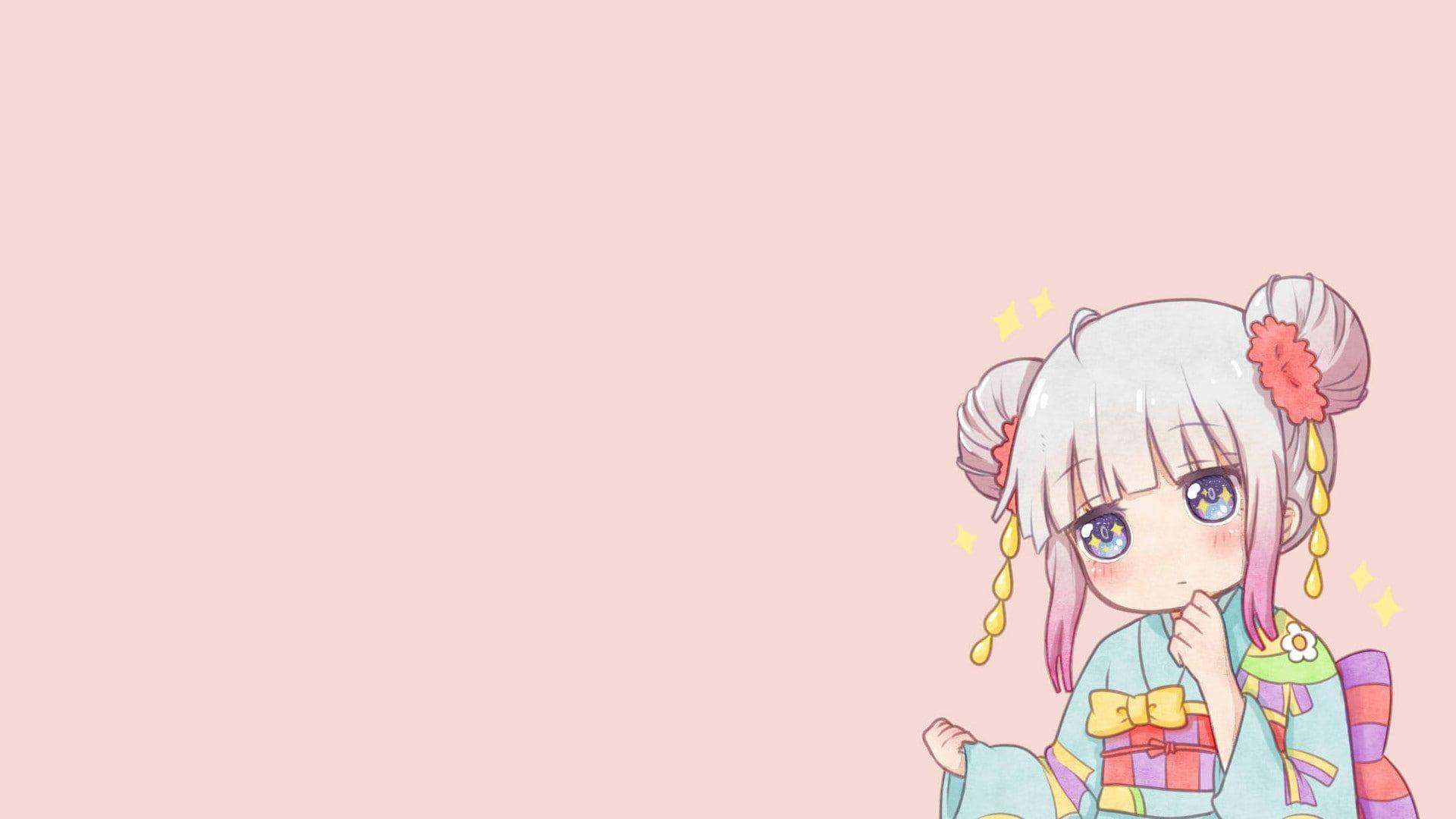 HD wallpaper: kanna kamui, kimono, kobayashi-san chi no maid dragon, Anime