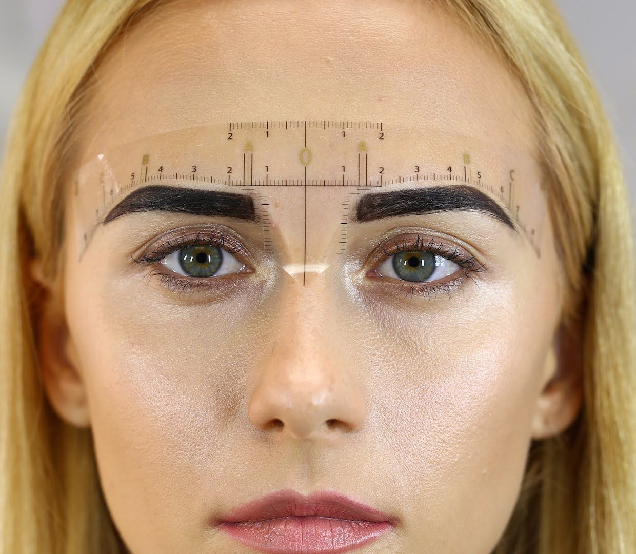 How To Use Darias Chuprys Eyebrow Measurement Ruler Eyebrow