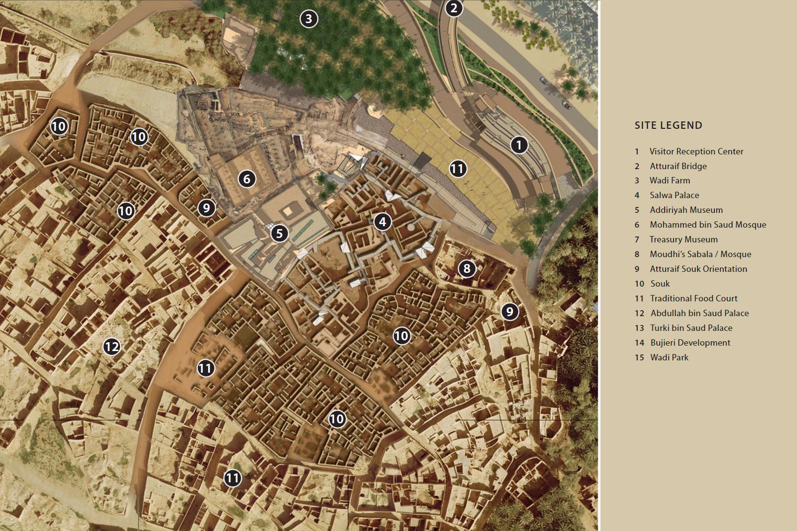 تطوير حي الطريف التاريخي The Atturaif Development مشاريع السعودية City Photo Aerial Photo