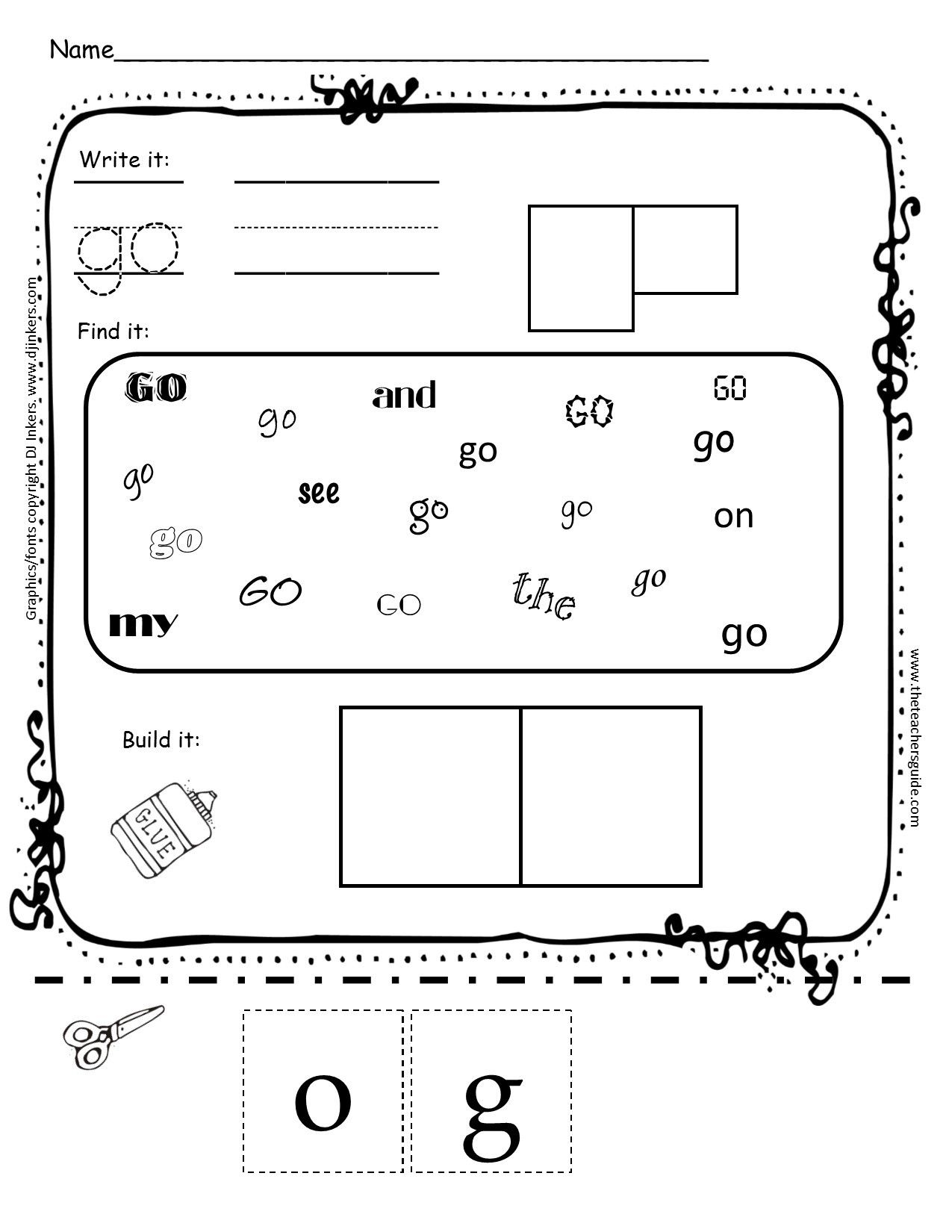 8 Academic Sight Word Worksheets For Kindergarten Di