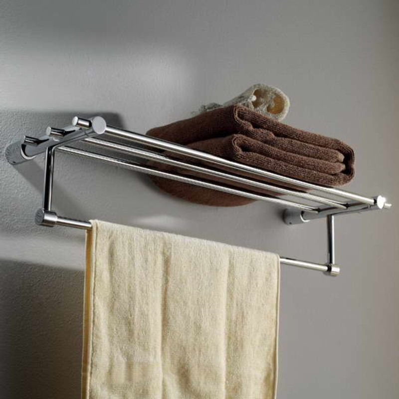 wall mounted towel rack with towel brown | Wall Mounted Towel Rack ...