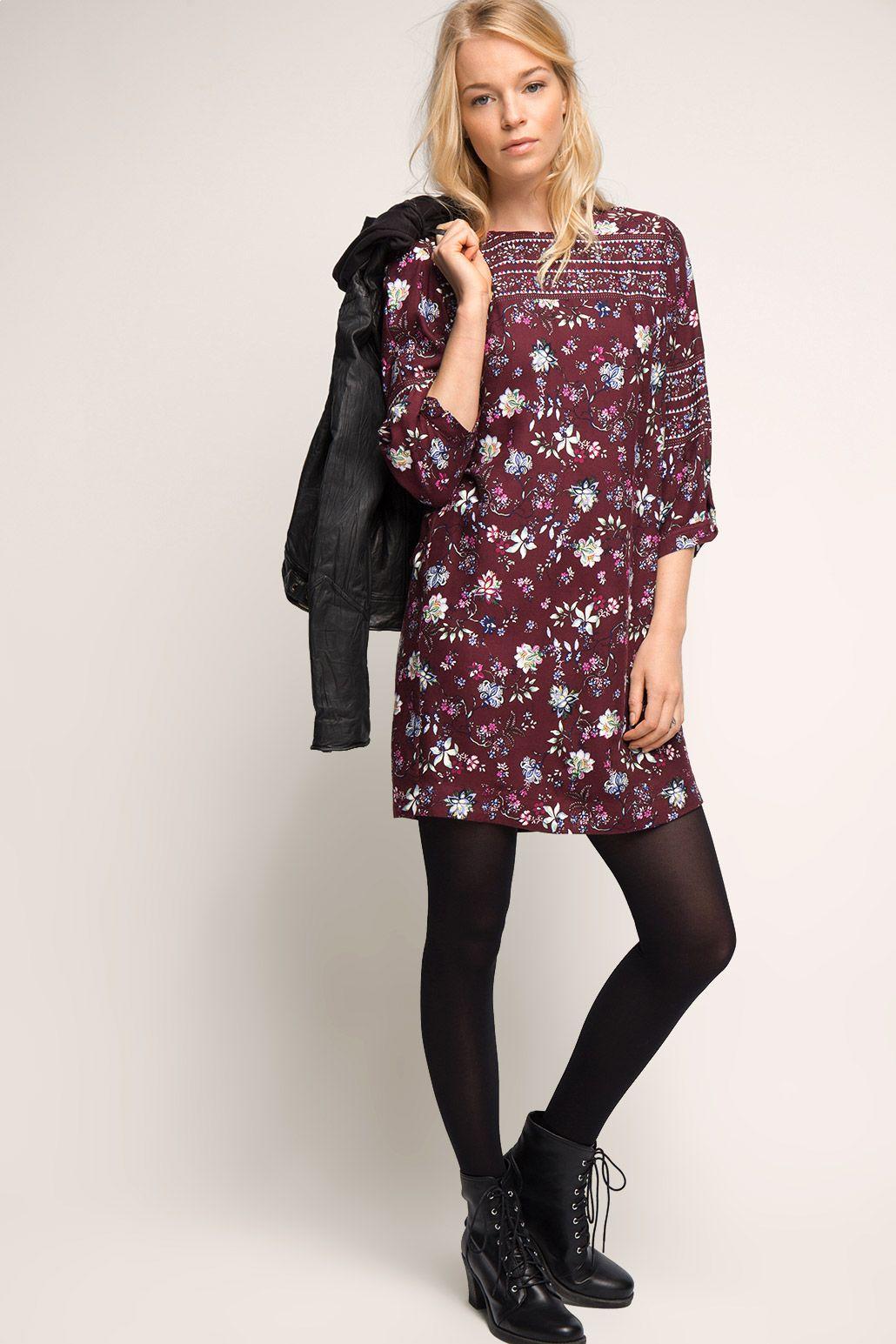 Floral bedrucktes Kleid | Damenkleider, Kleider kaufen ...