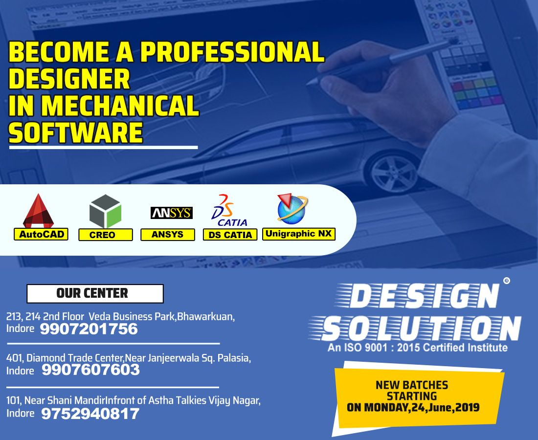 Become A Professional Designer In Mechanical Software Our Highly Experienced Faculties Advanced Teaching M Autocad Training Teaching Methods Design Solutions