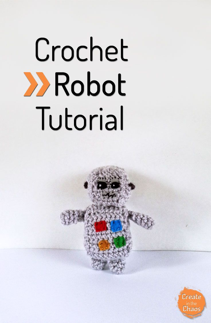 Crochet Robot Pattern and Tutorial | Apliques y Flores