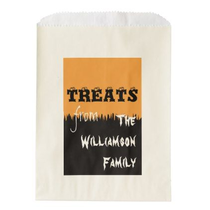 #Halloween Personalized Favor Bag - #cyo #create #your #own #gifts