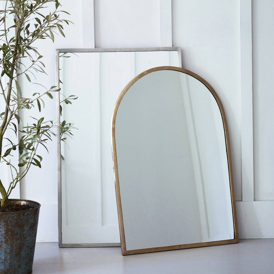Our Aster mirrors are simple and subtle.Available in Antique Brass or Matt Nickel, in an Arched or Rectangular design.Our Aster mirrors are simple and subtle, adding the perfect finishing detail without competing with other furnishings. They will suit almost any style of interior, adding additional light to any room or hallway. Delicately designed, each mirror has a beautiful metal frame, making it the perfect accent for on top of your dresser or mantle. Each mirror is individually handmade…