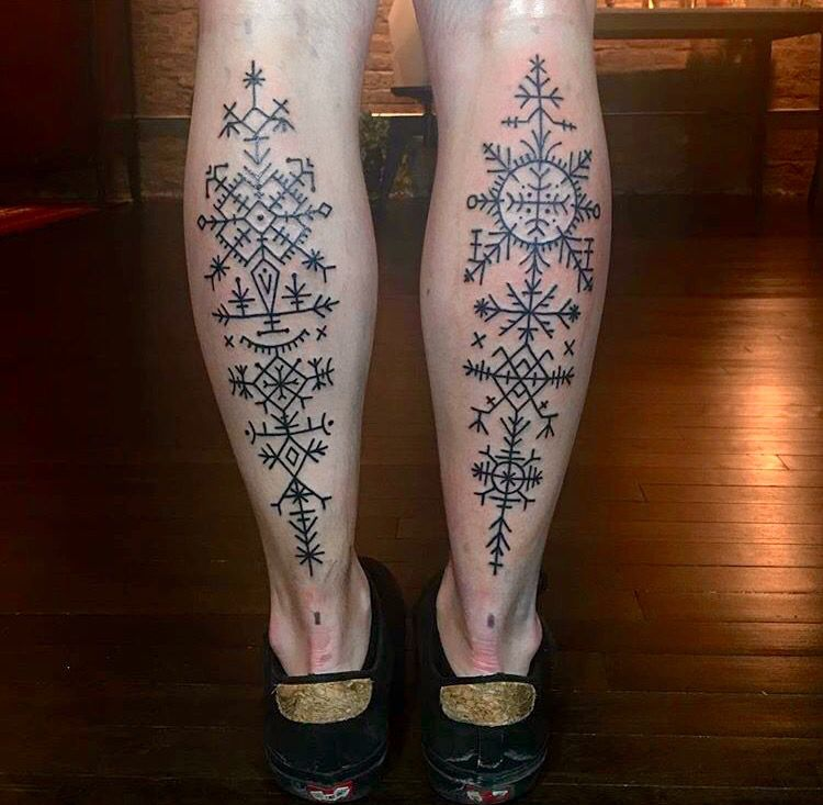 Croatian geometric tattoos. …