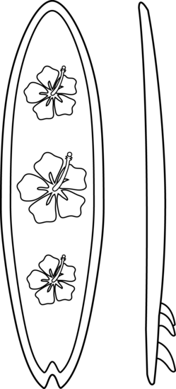 surf board coloring pages  Surfboards Coloring Page  applique