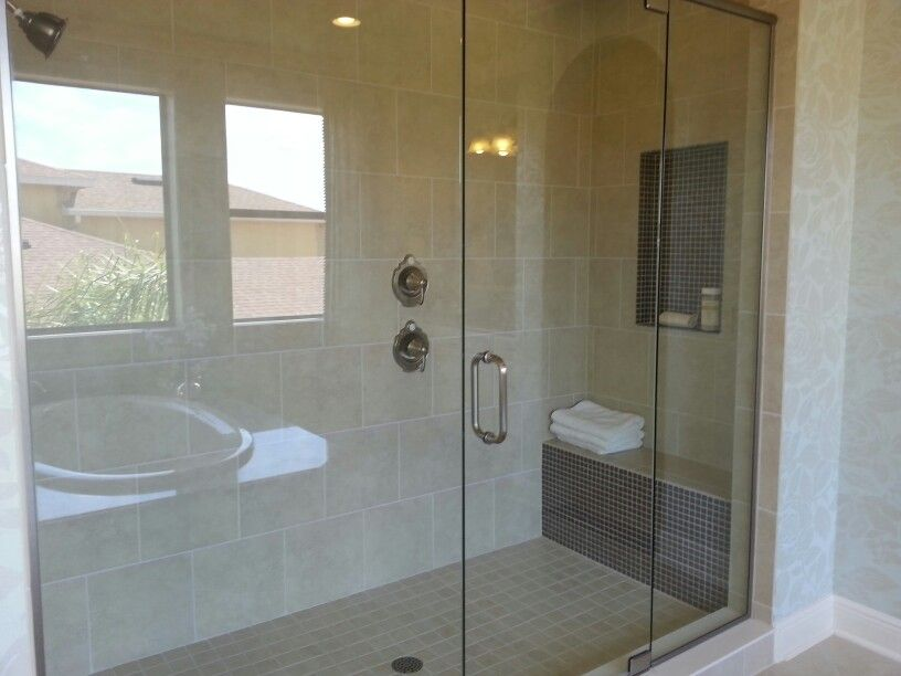 Shower seat and niche out of the way | bath and kitchen ideas ...
