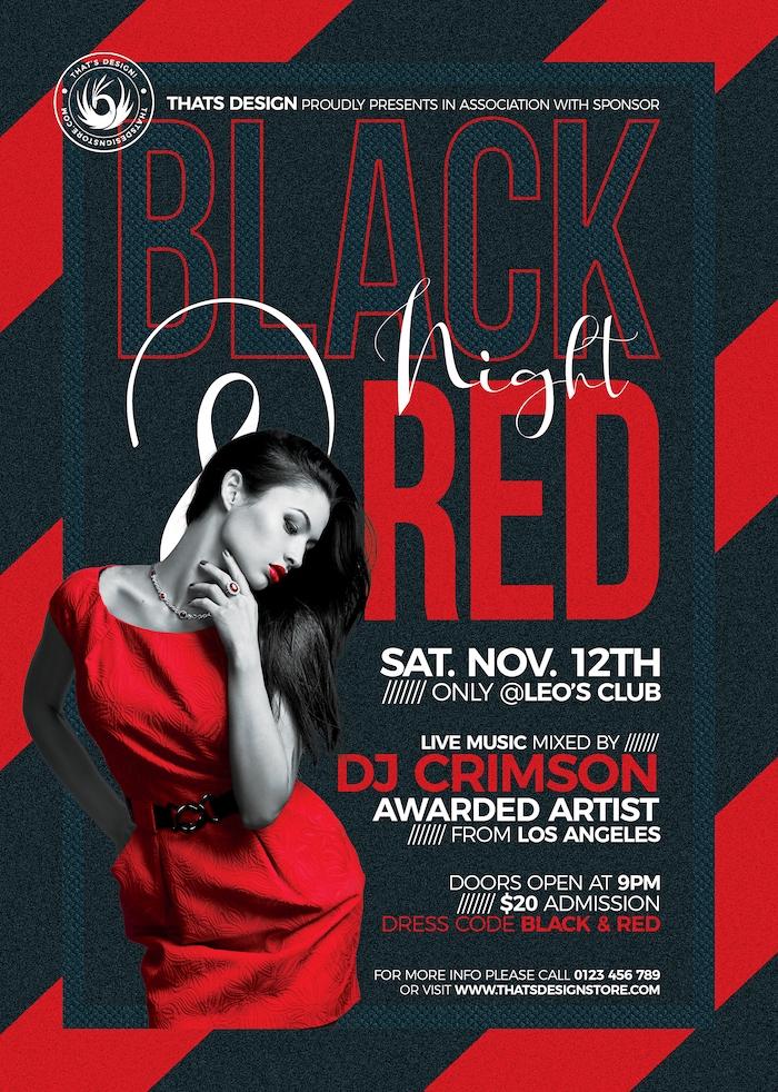 Black Red Flyer Template V5 Free Posters Design For Photoshop Flyer Template Flyer Black And Red