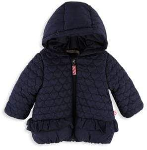 ae6e36dc3f06 Billieblush Baby Girl s  Little Girl s Heart Quilted Hooded Puffer ...